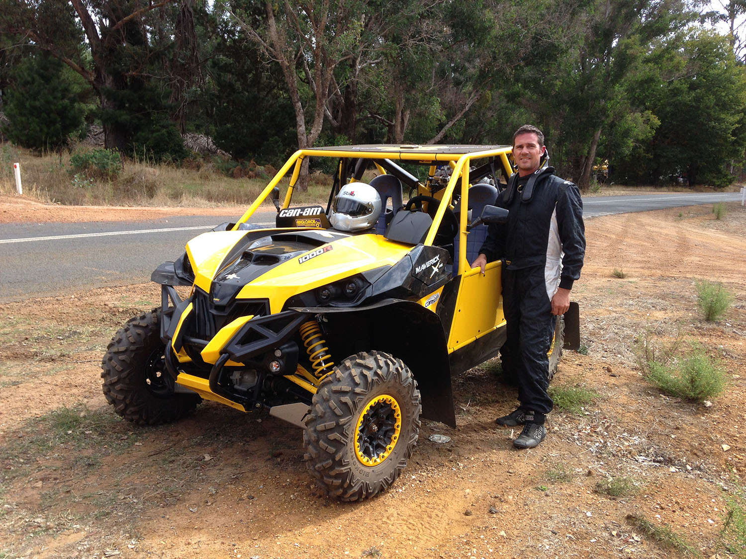 Anglomoil SXS Team Testing Before Quit Forest Rally_Driver Nathan Chivers