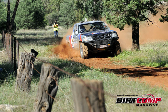 Dixon on the way to victory at the Condo 750 Cross Country Rally