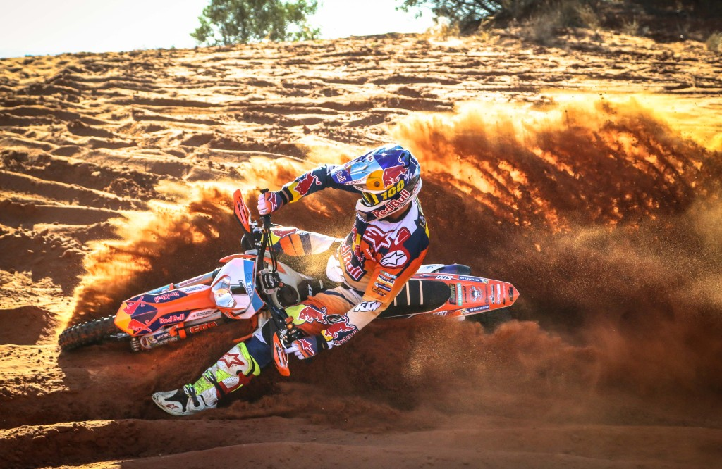 Dakar and Finke champ on two wheels will be performing double duty at the 2016 Tatts Finke Desert Race
