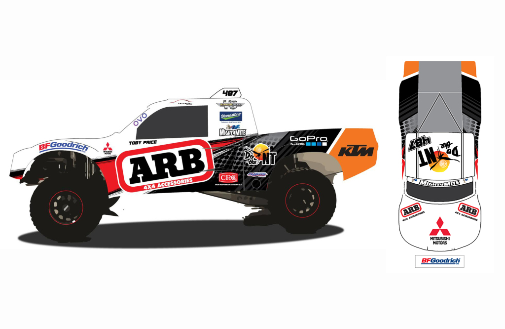 Toby Price will pilot the V8 powered Geiser Bros Trophy Truck.