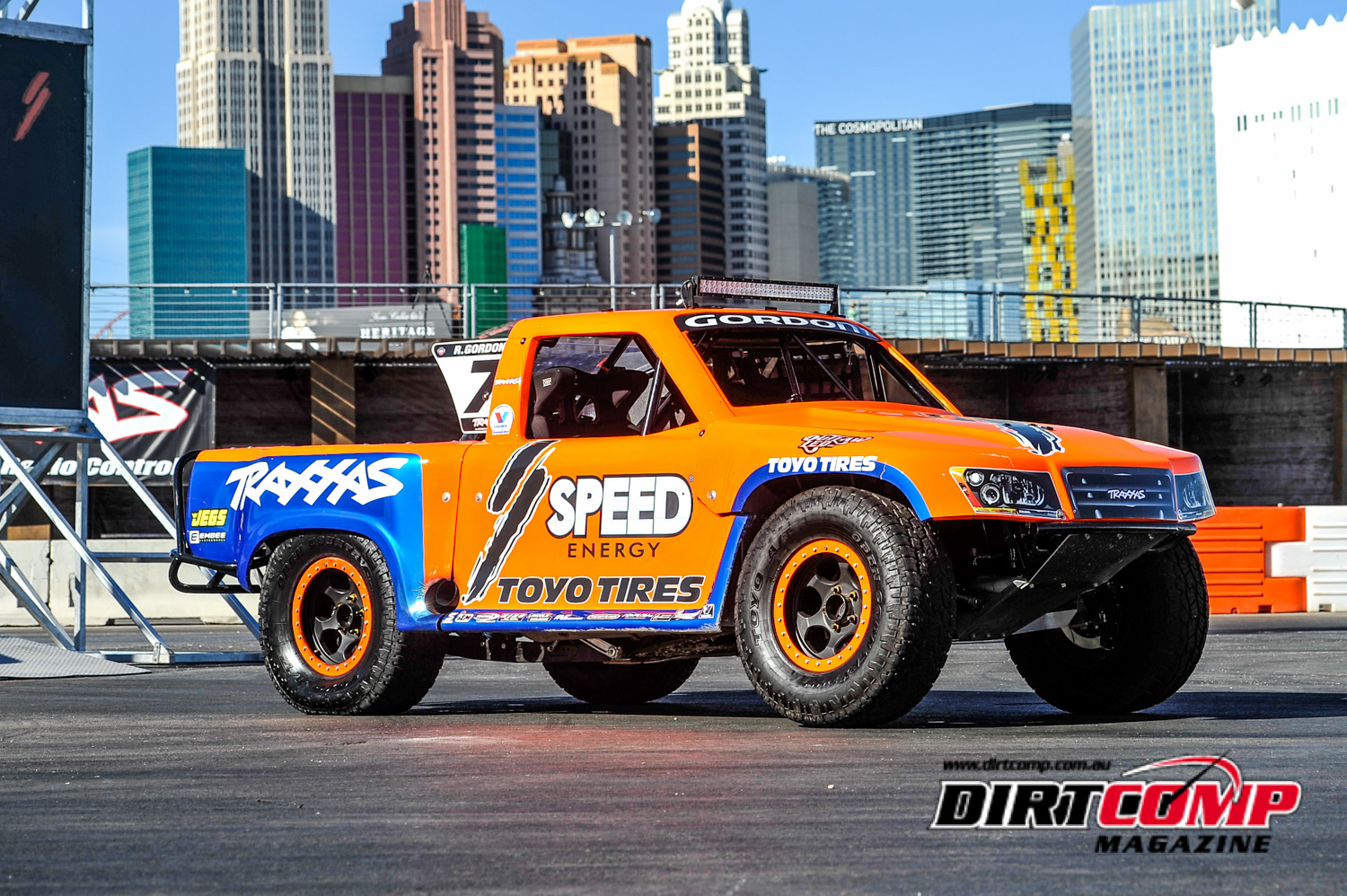 Robby Gordon's iconic number 7 Speed Energy Stadium Super Truck