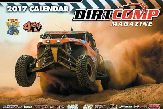 2017 Dirtcomp Wall Calendar - packed with high action offroad images! Free with a 6 Edition Subscription to Dirtcomp. Limited time only.