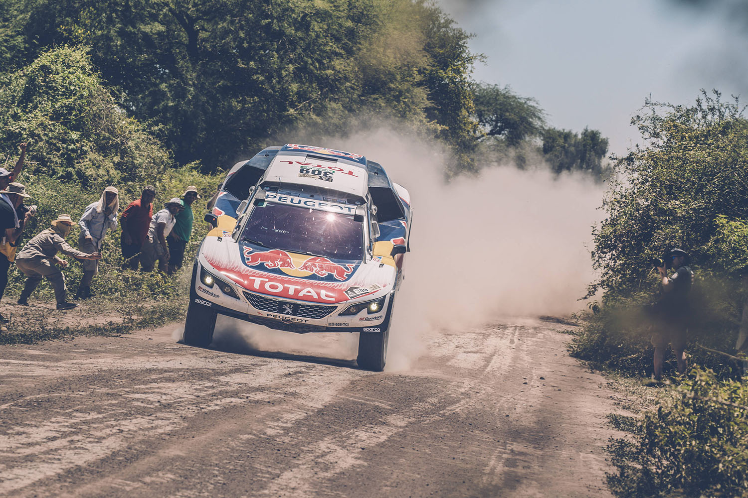 Sebastien Loeb (FRA) of Team Peugeot TOTAL races during stage 2 of Rally Dakar 2017 from Resistencia to San Miguel de Tucuman, Argentina on January 3, 2017. // Flavien Duhamel/Red Bull Content Pool