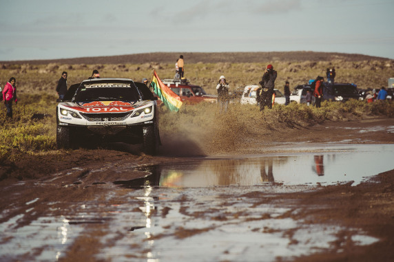 Sebastien Loeb (FRA) of Team Peugeot TOTAL races during stage 8 of Rally Dakar 2017 from Uyuni, Bolivia to Salta, Argentina on January 10, 2017. // Flavien Duhamel/Red Bull Content Pool