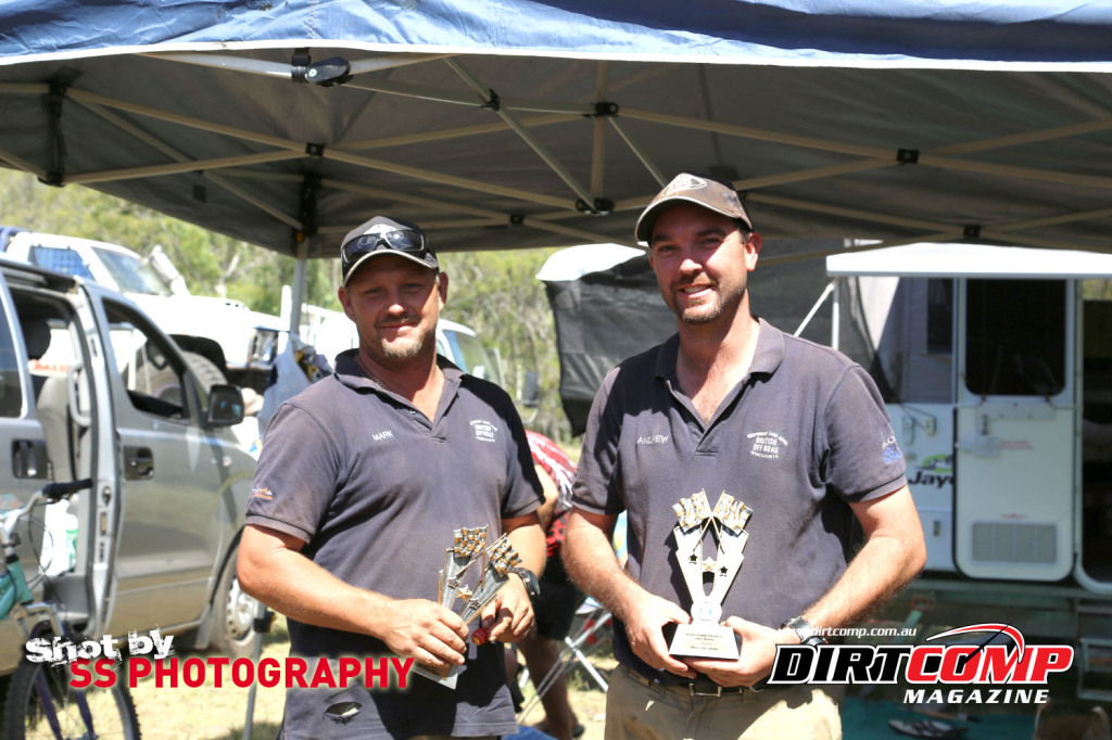 Mark Calder & Andrew McFarlane from British Offroad with the Trophy