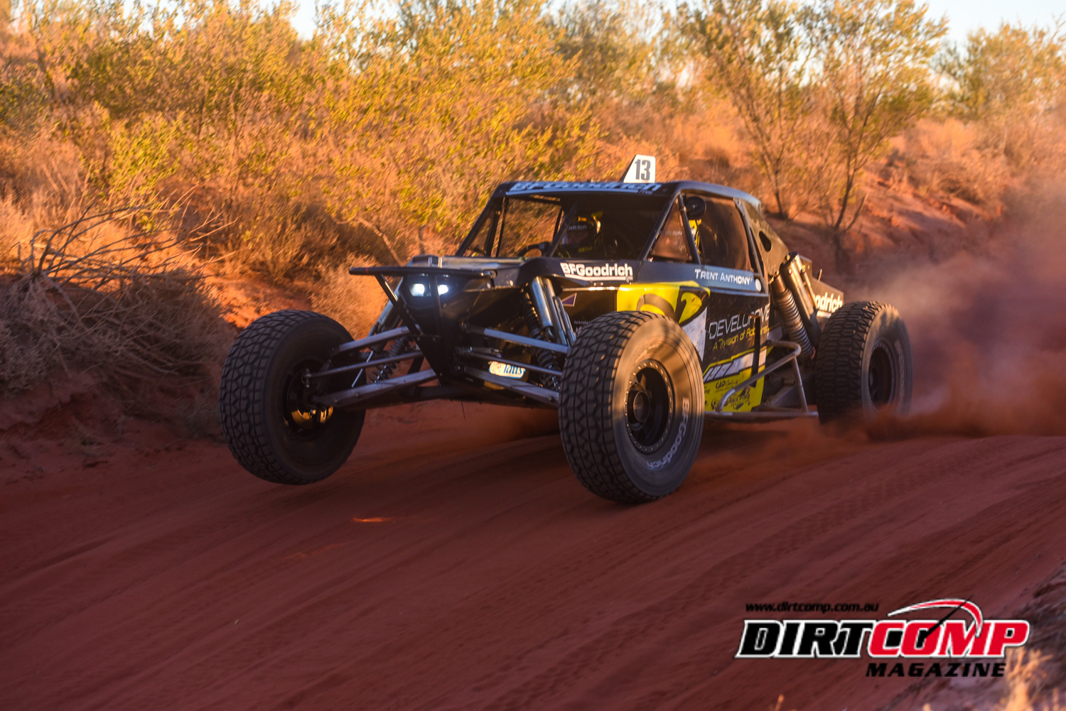 Robinson will lead the pack home from Finke on Monday morning in the #13 OBR Jimco