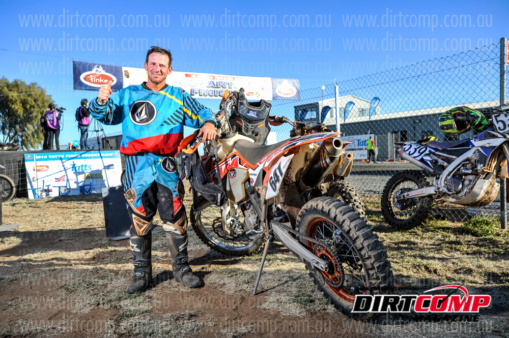 Geddes earned himself the title of the Finke Ironman
